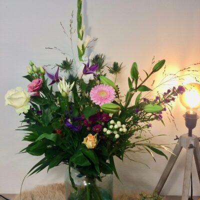 Beterschap wensen met bloemen