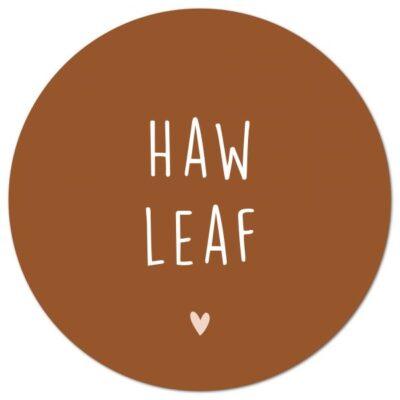 Muurcirkel Haw leaf – Terra – 30 cm