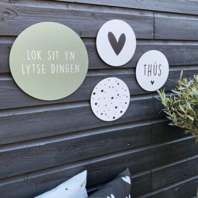 Muurcirkel Lok Sit Yn Lytse Dingen – Groen – 30 cm
